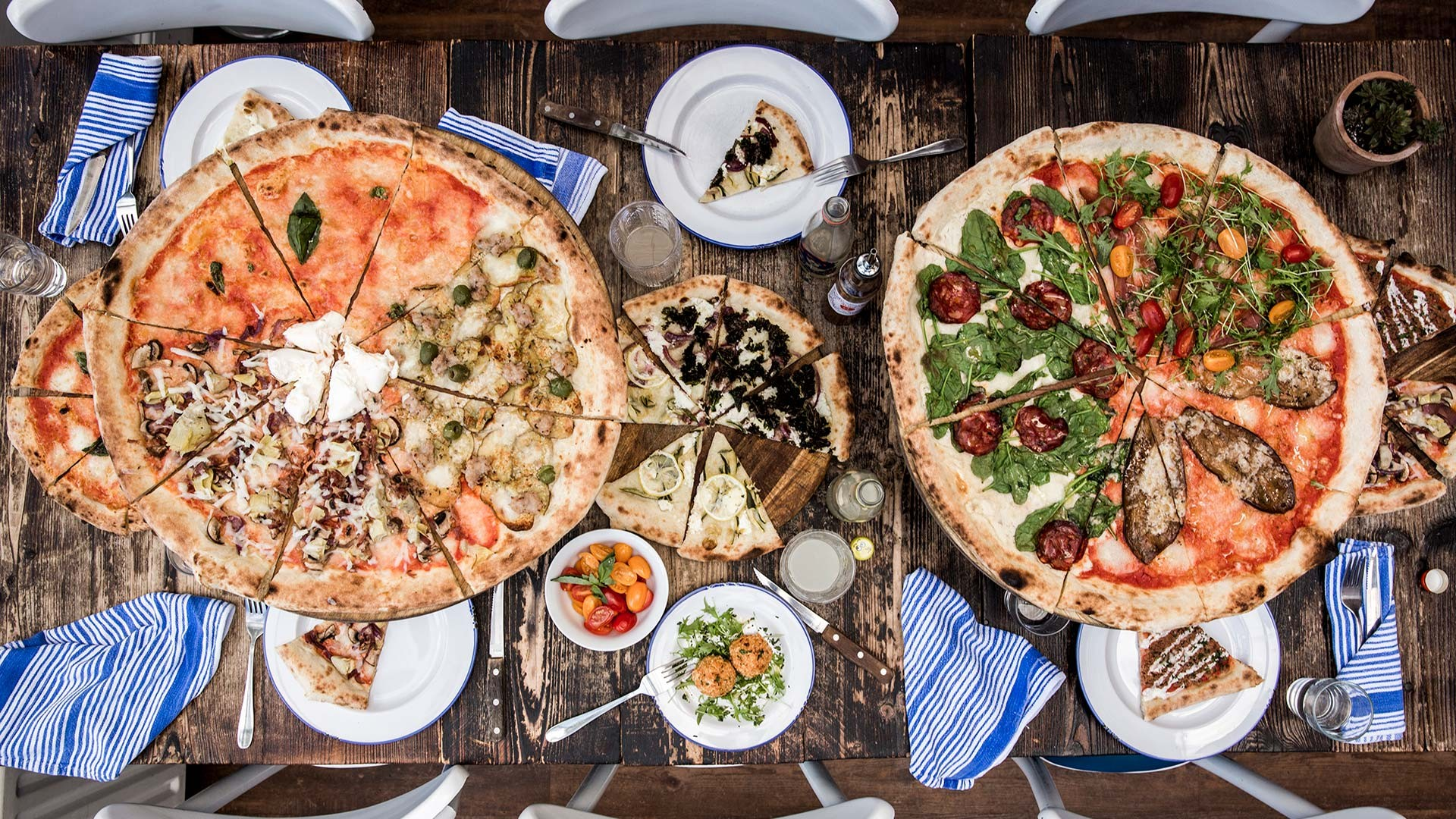 Pizzas and starters from Pi Pizza