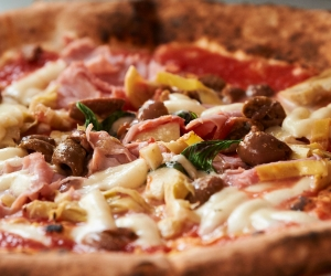 Santa Maria pizza; Photography by Tom Bowles